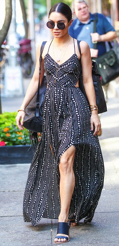 black-dress-maxi-print-black-shoe-sandalh-sun-bun-black-bag-pack-vanessahudgens-spring-summer-brun-lunch.jpg
