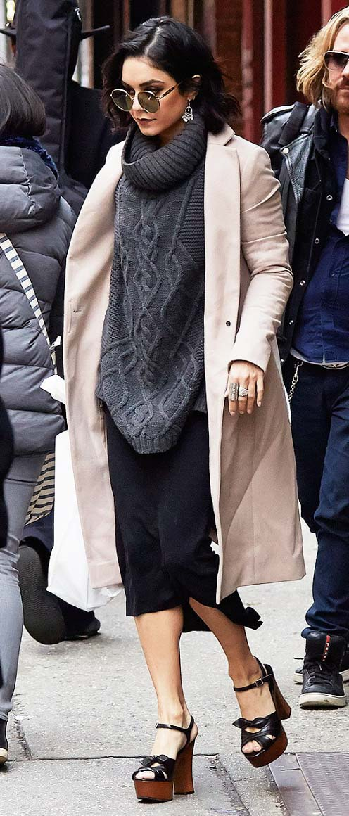 black-midi-skirt-grayd-sweater-turtleneck-tan-jacket-coat-sun-black-shoe-sandalw-layer-vanessahudgens-fall-winter-brun-lunch.jpg