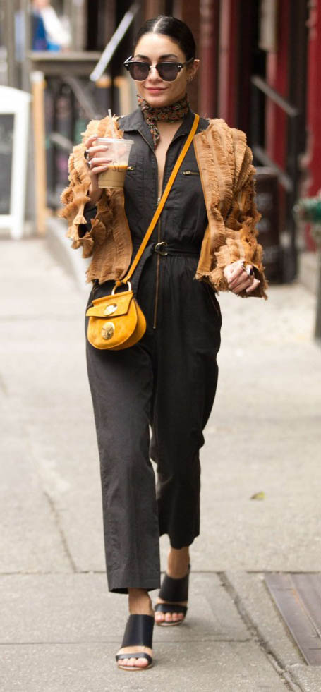 grayd-jumpsuit-camel-jacket-fur-neck-scarf-yellow-bag-sun-bun-black-shoe-sandalh-vanessahudgens-fall-winter-brun-lunch.jpg
