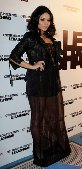 black-dress-maxi-sheer-seethrough-black-jacket-moto-necklace-vanessahudgens-fall-winter-brun-dinner.jpg