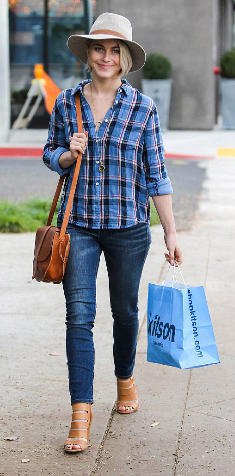 blue-navy-skinny-jeans-blue-med-plaid-shirt-hat-cognac-shoe-sandalh-cognac-bag-juliannehough-blonde-fall-winter-weekend.jpg