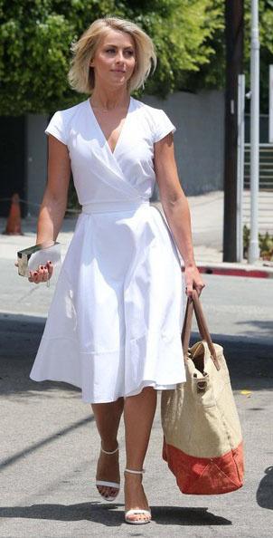 white-dress-aline-tan-bag-tote-white-shoe-sandalh-juliannehough-blonde-spring-summer-lunch.jpg
