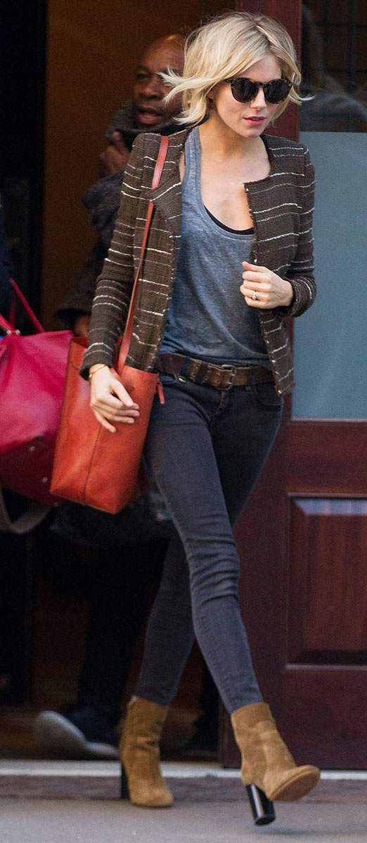 black-skinny-jeans-grayd-top-tank-brown-jacket-lady-tweed-belt-tan-shoe-booties-orange-bag-siennamiller-fall-winter-blonde-lunch.jpg