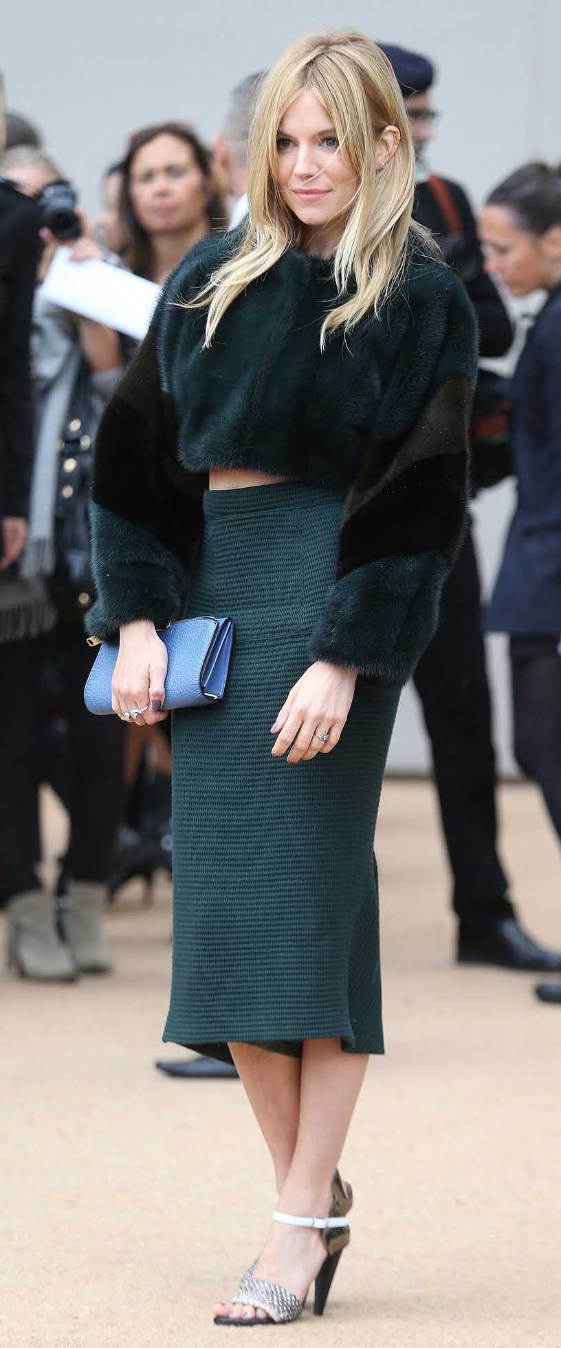 green-dark-midi-skirt-green-dark-jacket-fur-fuzz-white-shoe-sandalh-siennamiller-fall-winter-blonde-dinner.jpg