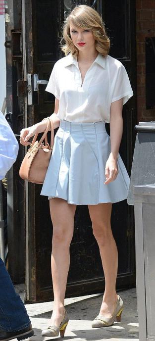 blue-light-mini-skirt-white-top-tan-bag-tan-shoe-pumps-taylorswift-wear-style-fashion-spring-summer-pastel-pumps-newyork-postgym-streetstyle-blonde-lunch.jpg