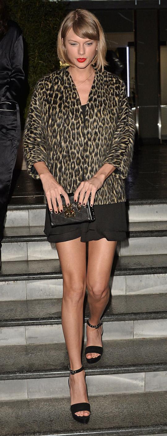black-dress-slip-tan-jacket-leopard-black-bag-clutch-black-shoe-sandalh-taylorswift-spring-summer-blonde-dinner.jpg