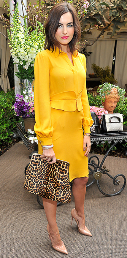 yellow-dress-shirt-tan-bag-leopard-tan-shoe-pumps-camillabelle-brun-spring-summer-work.jpg