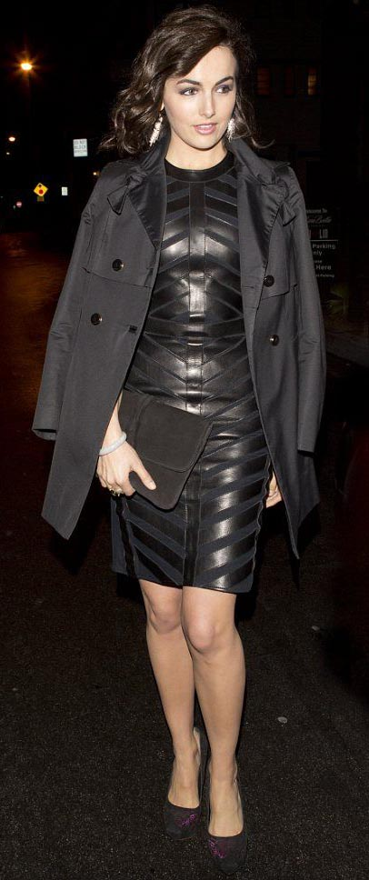 black-dress-shift-leather-black-jacket-coat-trench-black-shoe-pumps-earrings-camillabelle-brun-fall-winter-dinner.jpg