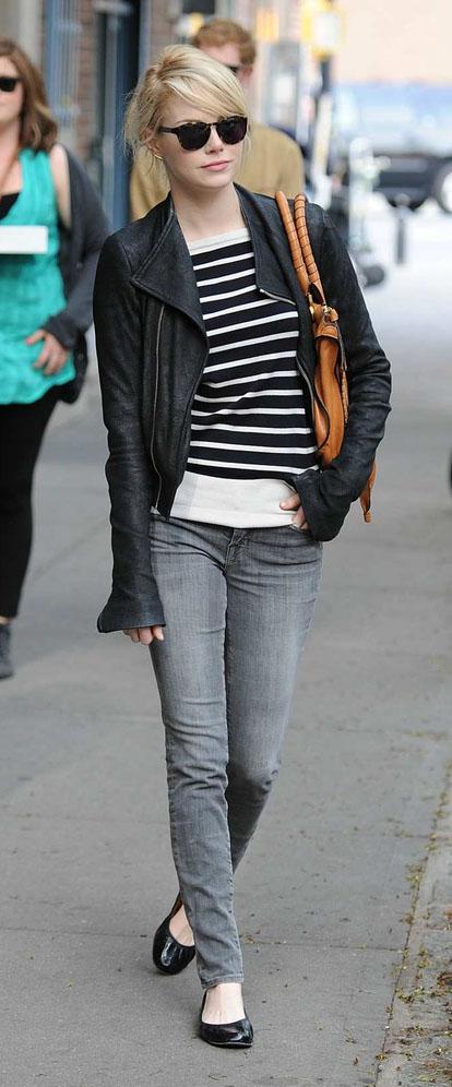 grayl-skinny-jeans-black-tee-stripe-black-jacket-moto-black-shoe-flats-sun-emmastone-fall-winter-blonde-weekend.jpg