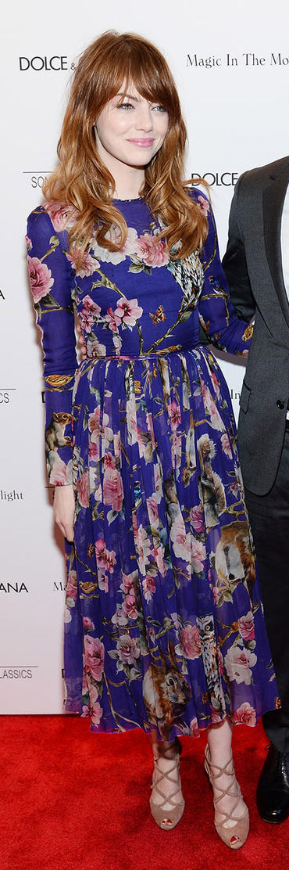purple-royal-dress-aline-floral-print-tan-shoe-sandalh-emmastone-spring-summer-hairr-dinner.jpg
