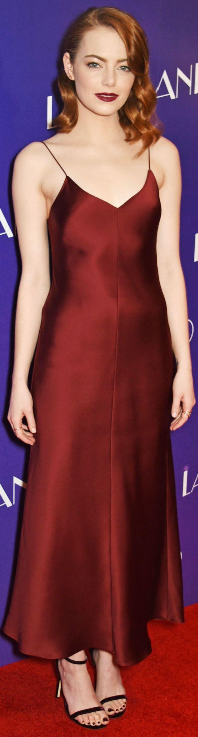 burgundy-dress-slip-burgundy-shoe-sandalh-emmastone-fall-winter-hairr-dinner.jpg