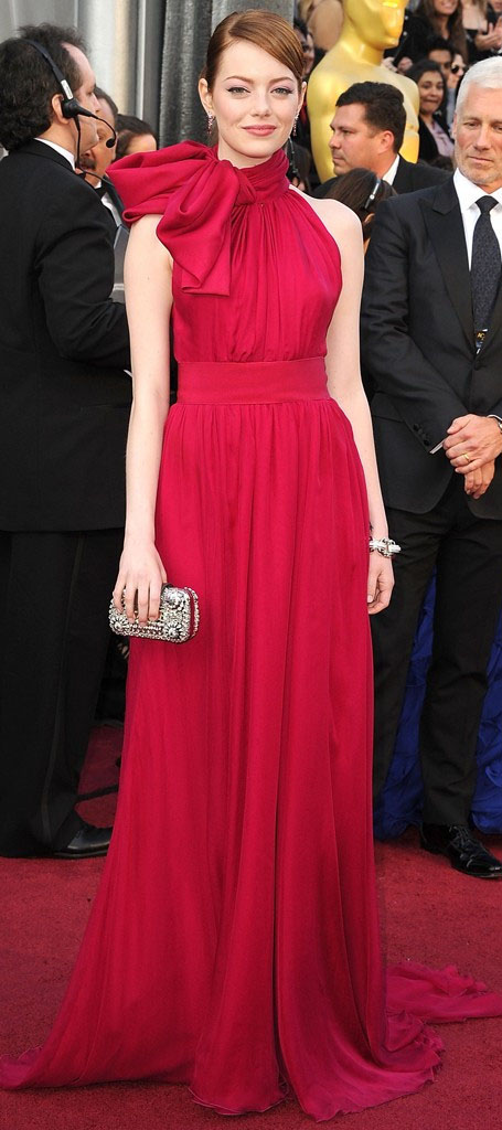red-dress-gown-bow-neck-bun-emmastone-fall-winter-hairr-elegant.jpg