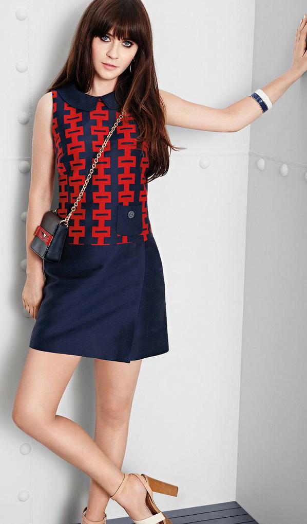 blue-navy-dress-mini-tan-shoe-sandal-bracelet-zooeydeschanel-brun-spring-summer-lunch.jpg