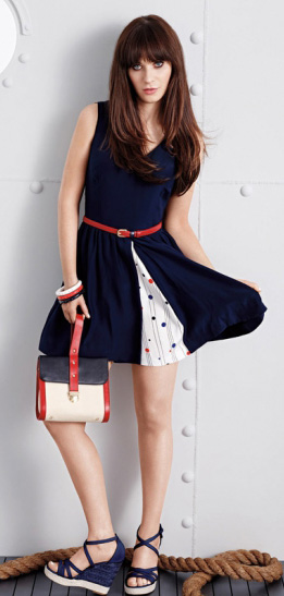 blue-navy-dress-belt-blue-shoe-sandalw-zooeydeschanel-brun-spring-summer-lunch.jpg