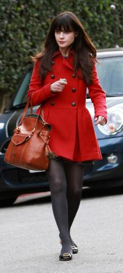 red-jacket-coat-black-tights-black-shoe-flats-cognac-bag-zooeydeschanel-brun-fall-winter-lunch.jpg