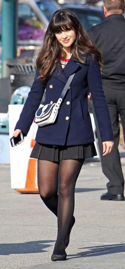 black-mini-skirt-black-tights-blue-navy-jacket-coat-black-shoe-flats-peacoat-zooeydeschanel-brun-fall-winter-lunch.jpg