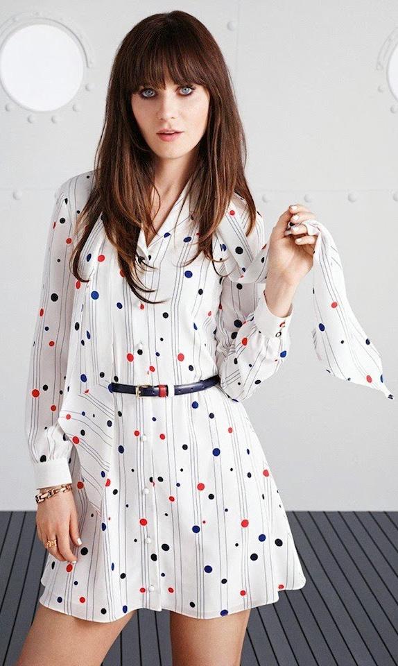 white-dress-shirt-dot-belt-zooeydeschanel-brun-spring-summer-work.jpg