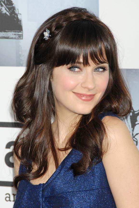 hair-zooeydeschanel-brun-makeup-crown-braid-bangs-long.jpg