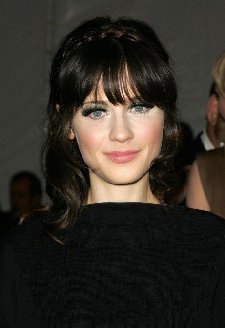 hair-zooeydeschanel-brun-makeup-bangs-braid-crown-long.jpg