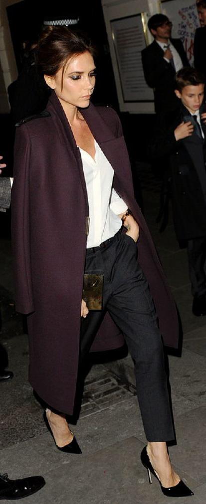 black-slim-pants-white-top-blouse-purple-royal-jacket-coat-black-shoe-pumps-victoriabeckham-brun-fall-winter-dinner.jpg