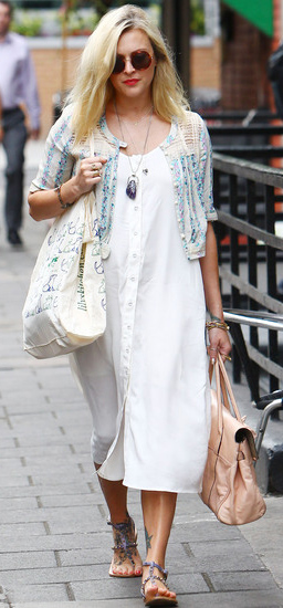white-dress-shirt-pink-bag-blue-shoe-sandals-sun-necklace-pend-wear-style-fashion-spring-summer-fearnecotton-celebrity-street-blonde-weekend.jpg