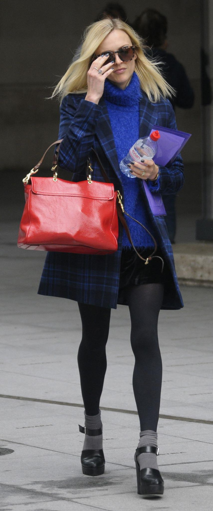 black-mini-skirt-blue-navy-sweater-blue-navy-jacket-coat-plaid-red-bag-sun-black-tights-fearnecotton-fall-winter-blue-cobalt-turtleneck-socks-black-shoe-sandalh-blonde-lunch.jpg
