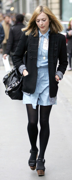 blue-light-dress-black-jacket-blazer-black-shoe-sandalw-black-tight-black-bag-shirt-wear-style-fashion-fall-winter-fearnecotton-blonde-work.jpg