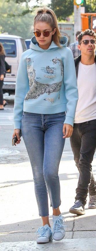blue-med-skinny-jeans-blue-light-sweater-sweatshirt-howtowear-style-fashion-spring-summer-hoodie-blue-shoe-sneakers-gigihadid-blonde-weekend.jpg