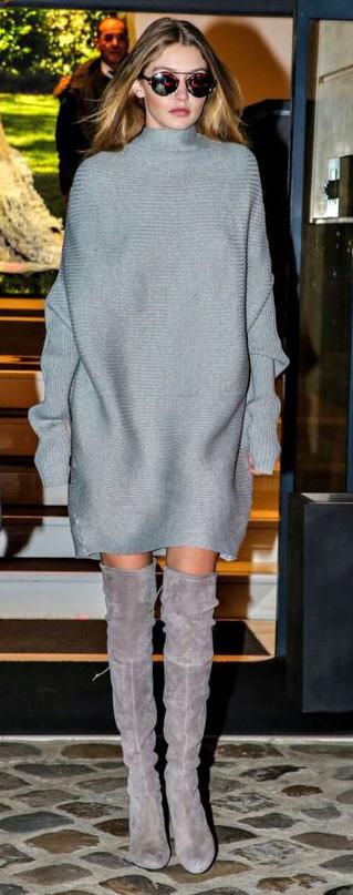 grayl-dress-sweater-slouchy-gray-shoe-boots-sun-mono-gigihadid-fall-winter-blonde-work.jpg