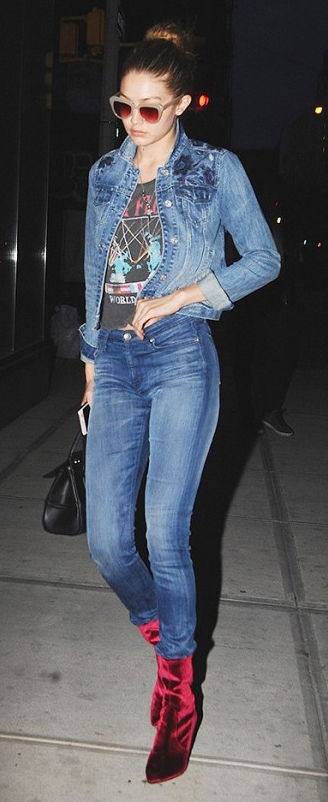 blue-med-skinny-jeans-black-tee-graphic-blue-med-jacket-jean-blonde-bun-sun-black-bag-red-shoe-booties-gigihadid-howtowear-fashion-style-outfit-fall-winter-dinner.jpg