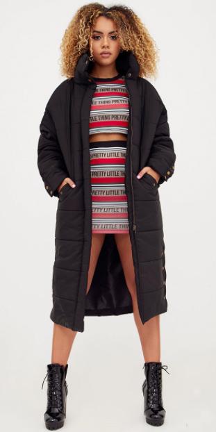 red-mini-skirt-red-crop-top-match-set-stripe-black-shoe-booties-black-jacket-coat-puffer-fall-winter-hairr-lunch.jpg
