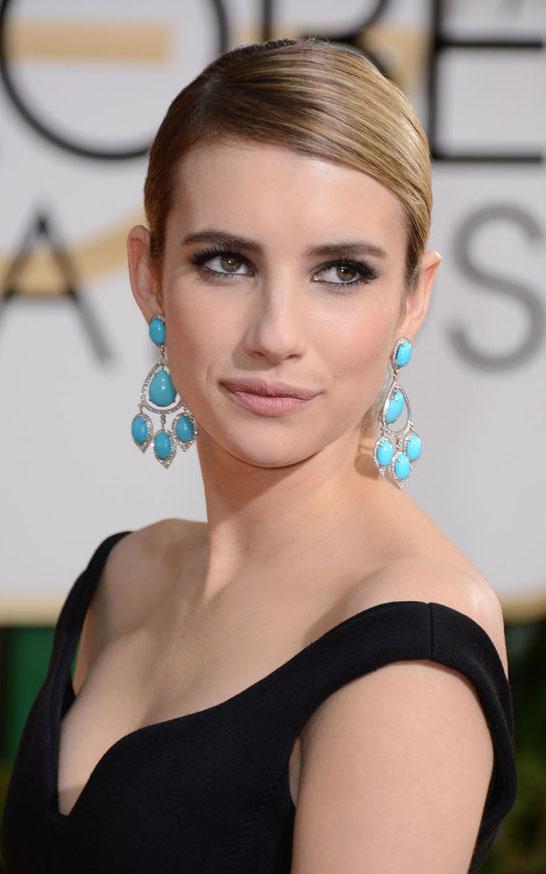 what-to-wear-oval-face-shape-style-haircut-sunglasses-hat-earrings-jewelry-emmaroberts-chandelier-turquoise-sidepart-updo.jpg