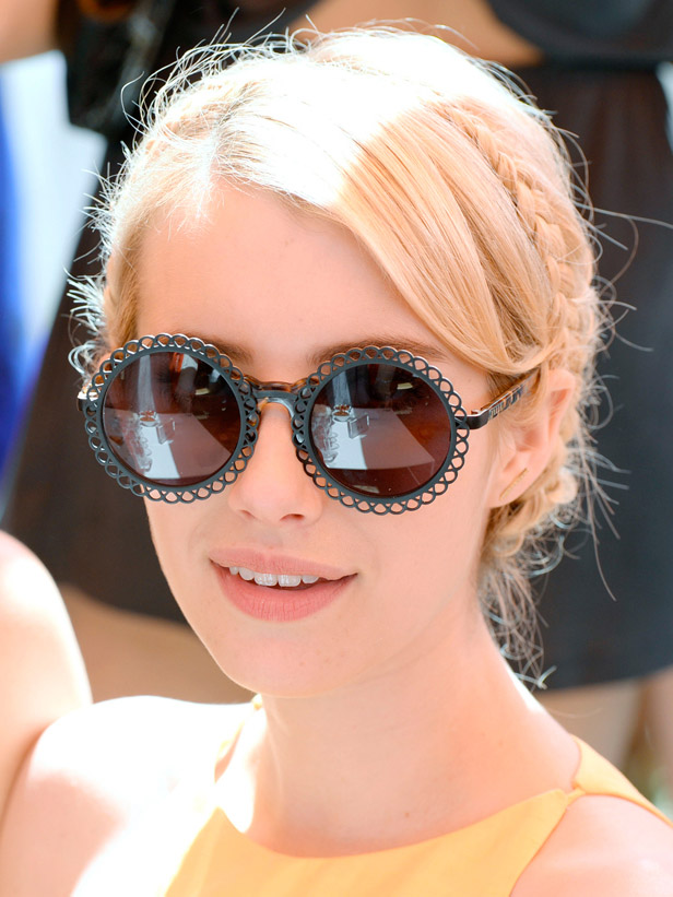what-to-wear-oval-face-shape-style-haircut-sunglasses-hat-earrings-jewelry-emmaroberts-round-braid-updo.jpg