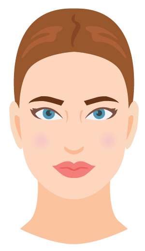 Defining characteristic: The roundness and softness in your face shape and features! Rounder lines and plumper cheeks than the oval face shape.