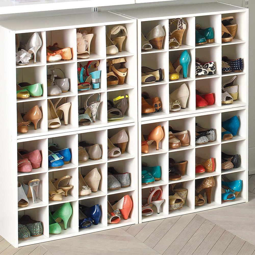 12-Pair Shoe Organizer, $32 at The Container Store - These are useful cubbies for low heels and flats, and they're stackable!
