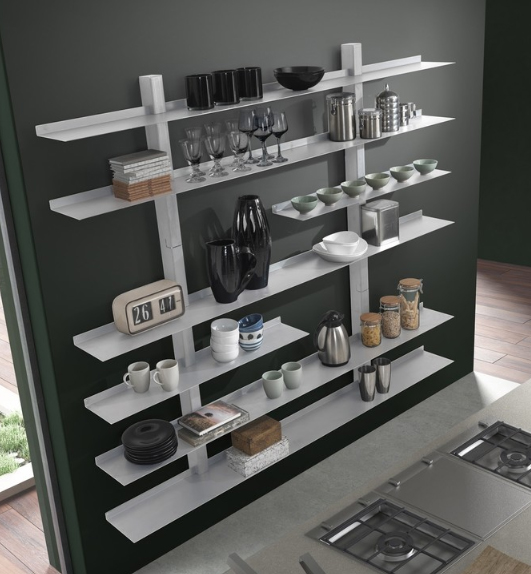 Siderio Zefiro II Bookcase, $2,201 at Houzz - How awesome is this flexible wall-mounted shelving unit? It's sturdy and super elegant.