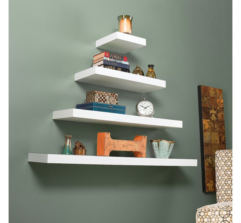 Chicago Floating Shelf Collection, $35 at Target - Try an arrangement like this with floating shelves from Target!