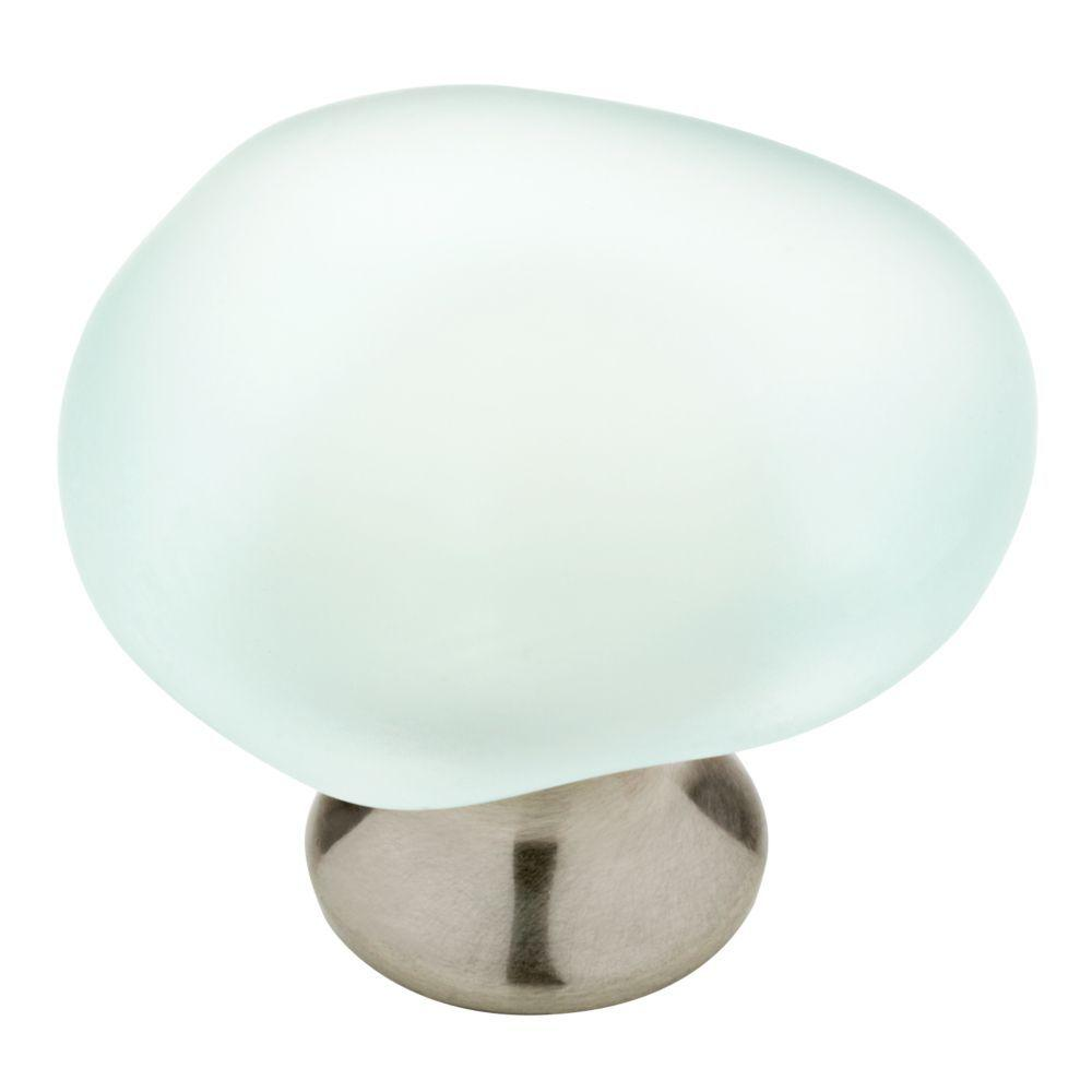 Satin Nickel and Sea Glass Cabinet Knobs, $6 at Home Depot - Install these pretty sea glass knobs on a wall!