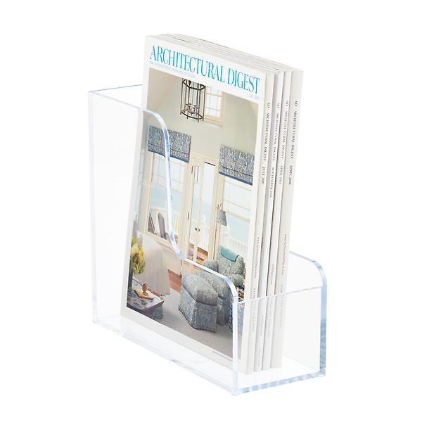 Clear Magazine Holder, $15 at The Container Store - These clear plastic magazine holders are sturdy and make perfect holders for clutches!