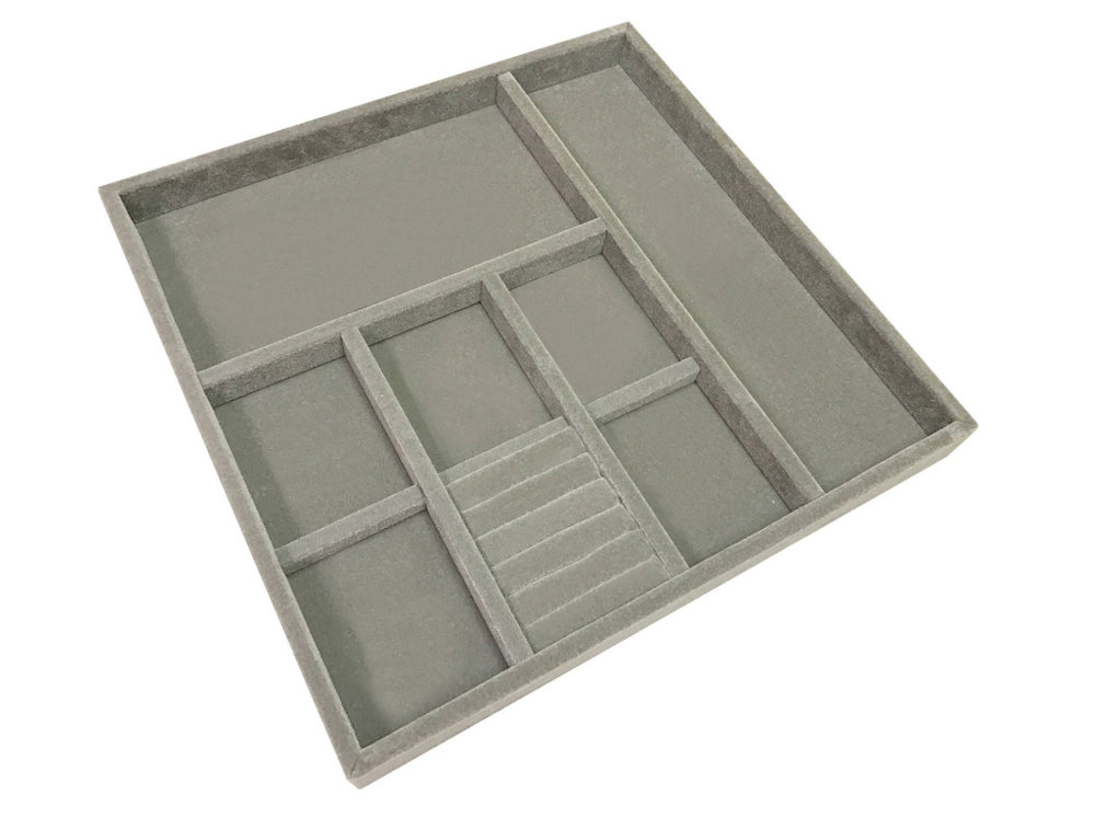 Velvet Jewelry Tray, $120 at Houzz - These are excellent jewelry trays with velvet lining - they come in 4 sizes!