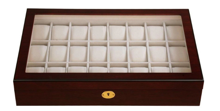 Wood 24-Watch Case, $51 at Houzz - Have a lot of watches? Store them in a lidded watch box.