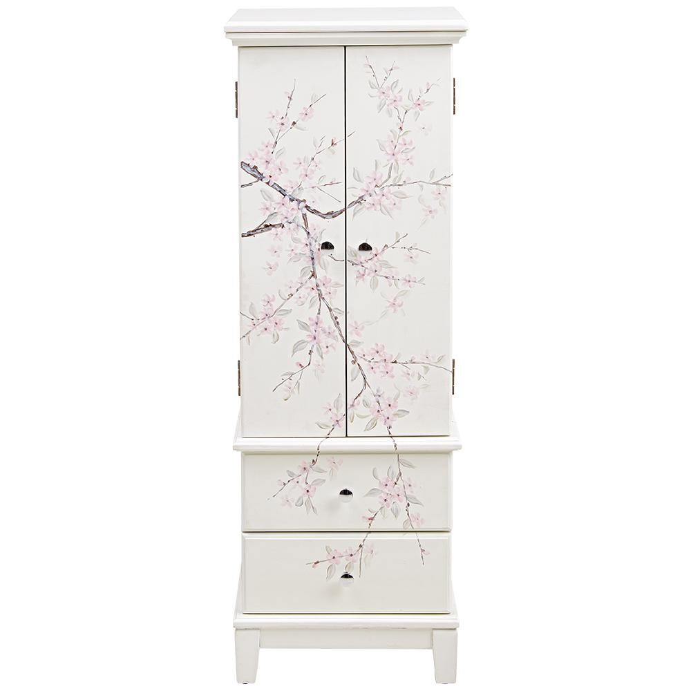 Cherry Blossom Cream Jewelry Armoire, $343 at Home Depot - A gorgeous Asian-inspired piece with plenty of storage room!