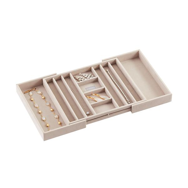 Stackers Medium Expandable Necklace Trays, $40 at The Container Store - Great trays perfect for inside of drawers - they expand to fit!