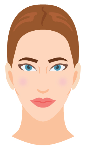 """Defining characteristic: Evenly balanced oval """"egg"""" shaped face. You don't have much softness to your face or squared/angular shape."""