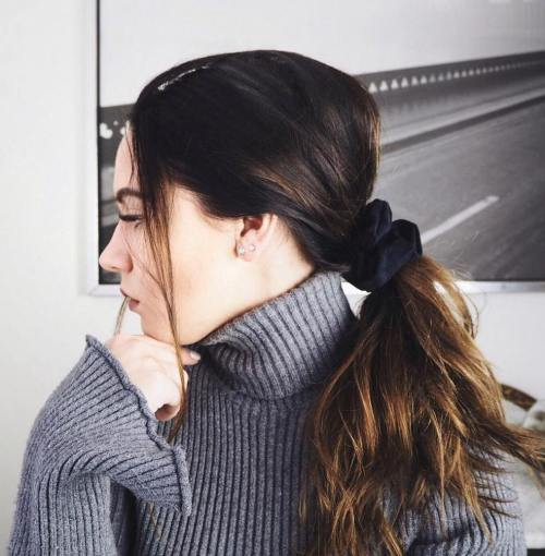 how-to-style-hair-accessories-scrunchies-hairstyles-ways-to-wear-low-ponytail-brunette-black.jpg