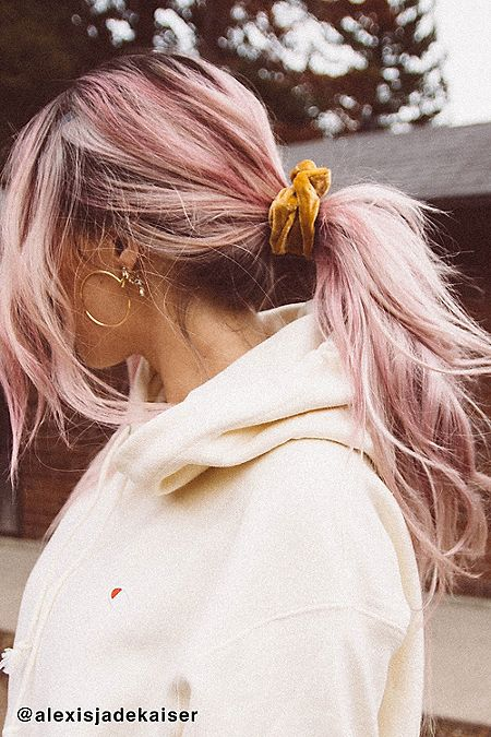 how-to-style-hair-accessories-scrunchies-hairstyles-ways-to-wear-ponytail-velvet-yellow.jpg