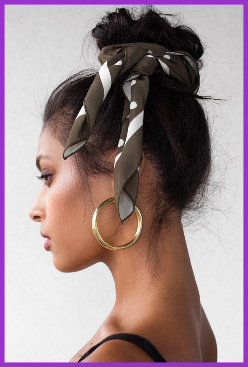 how-to-style-hair-accessories-scarf-scarves-bandana-silk-messybun-print-summer-hoop-earrings.jpg