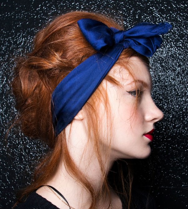 how-to-style-hair-accessories-scarf-scarves-bandana-silk-cobalt-blue-redhair.jpg