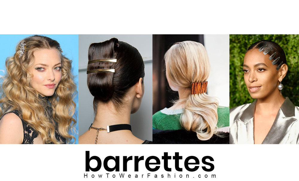Dress up your gorgeous locks with pretty barrettes! Whether you go with snap clips, sparkly brooches, or sleek metallic barrettes, you'll love the decoration they add to your look.