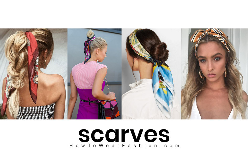 How to wear a scarf in your hair
